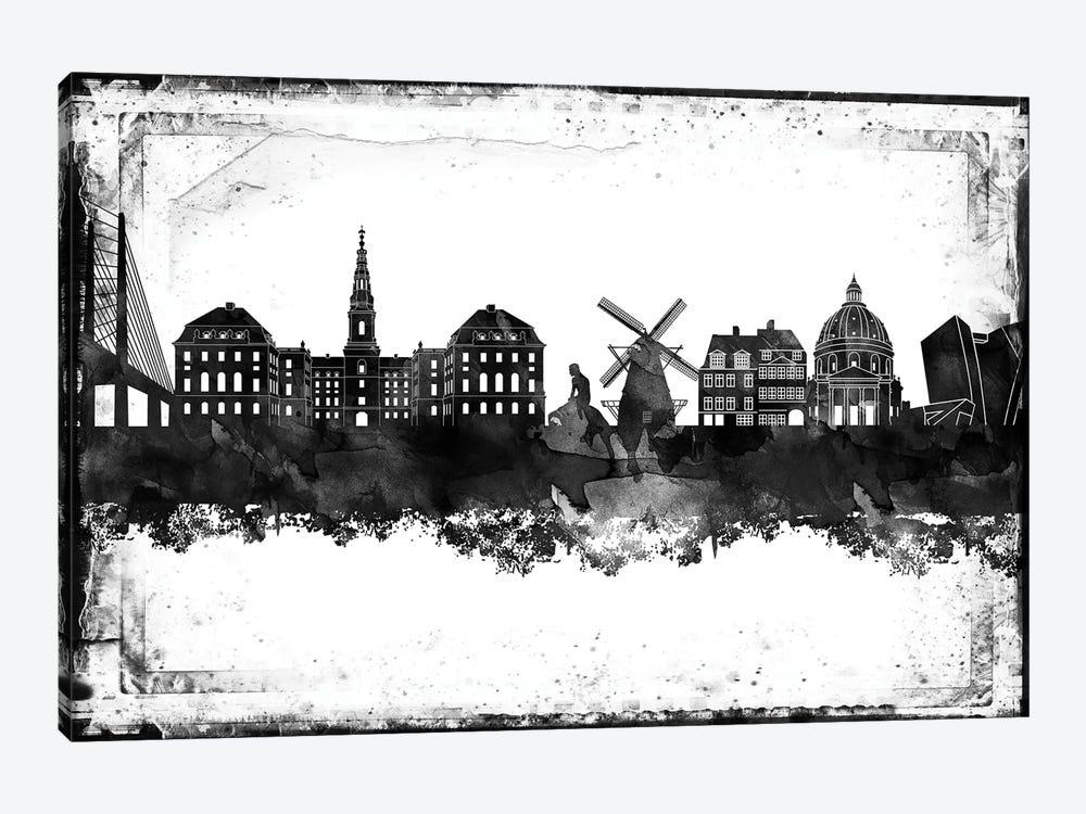 Copenhagen Black & White Film by WallDecorAddict 1-piece Canvas Art