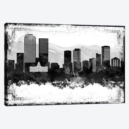 Denver Black & White Film Canvas Print #WDA1417} by WallDecorAddict Canvas Wall Art