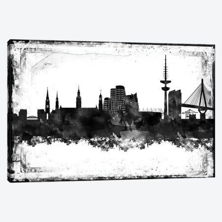 Dusseldorf Black & White Film Canvas Print #WDA1420} by WallDecorAddict Canvas Artwork