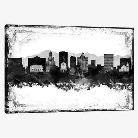 El Paso Black & White Film Canvas Print #WDA1422} by WallDecorAddict Canvas Artwork
