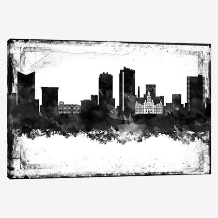 Fort Worth Black & White Film Canvas Print #WDA1424} by WallDecorAddict Canvas Art Print