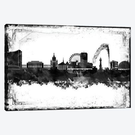 Geneva Black & White Film Canvas Print #WDA1425} by WallDecorAddict Art Print