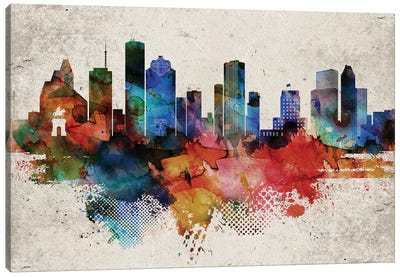 Houston Abstract Canvas Art Print
