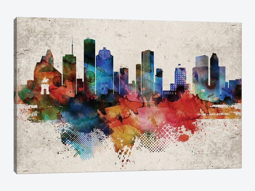 Houston Abstract by WallDecorAddict 1-piece Canvas Art