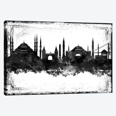 Istanbul Black & White Film Canvas Print #WDA1432} by WallDecorAddict Canvas Art Print