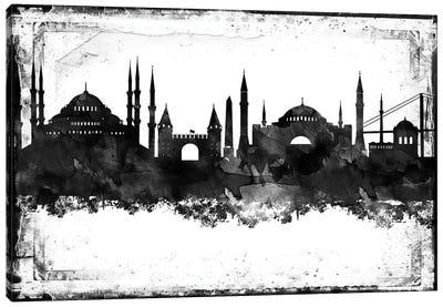 Istanbul Black & White Film Canvas Art Print