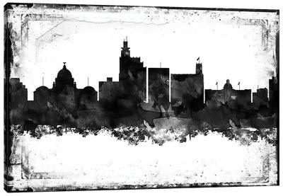 Jackson Mi Black & White Film Canvas Art Print