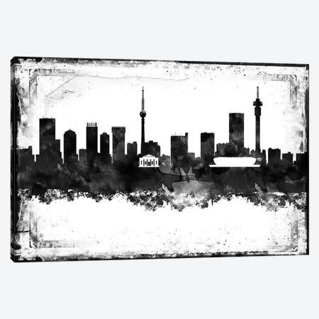 Johannesburg Black & White Film Canvas Print #WDA1434} by WallDecorAddict Canvas Wall Art