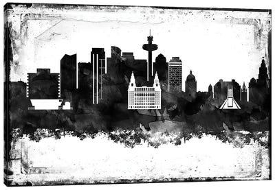 Liverpool Black & White Film Canvas Art Print