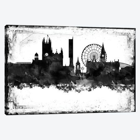 Manchester Black & White Film Canvas Print #WDA1445} by WallDecorAddict Canvas Art Print