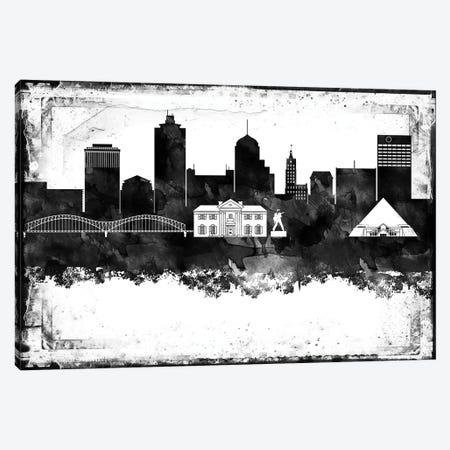 Memphis Black & White Film Canvas Print #WDA1447} by WallDecorAddict Art Print