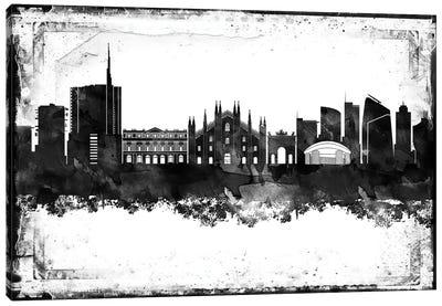 Milan Black & White Film Canvas Art Print