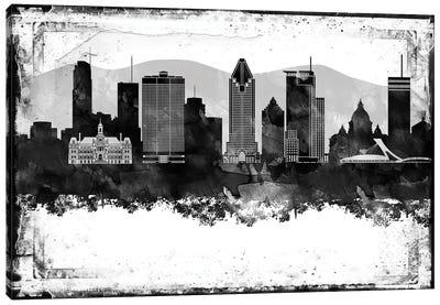 Montreal Black & White Film Canvas Art Print