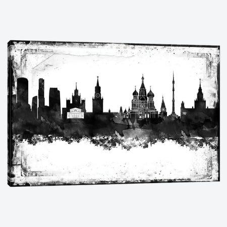 Moscow Black & White Film Canvas Print #WDA1450} by WallDecorAddict Canvas Art Print