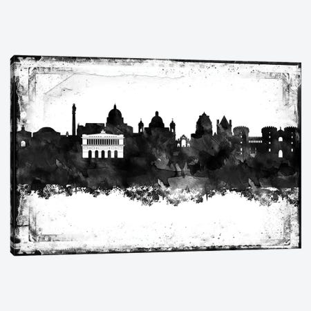 Naples Black & White Film Canvas Print #WDA1453} by WallDecorAddict Canvas Art Print