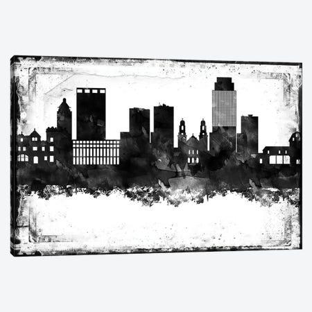 Omaha Black & White Film Canvas Print #WDA1457} by WallDecorAddict Canvas Art