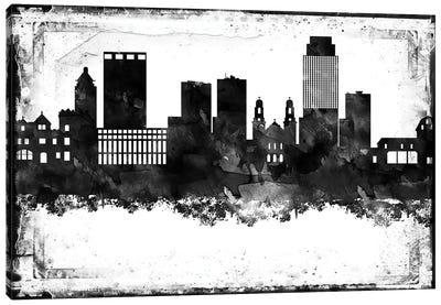 Omaha Black & White Film Canvas Art Print