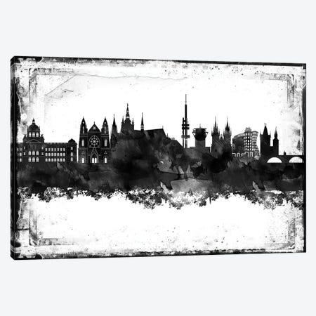 Prague Black & White Film Canvas Print #WDA1465} by WallDecorAddict Canvas Print