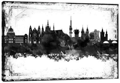 Prague Black & White Film Canvas Art Print
