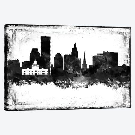Providence Black & White Film Canvas Print #WDA1466} by WallDecorAddict Canvas Art Print