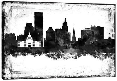 Providence Black & White Film Canvas Art Print