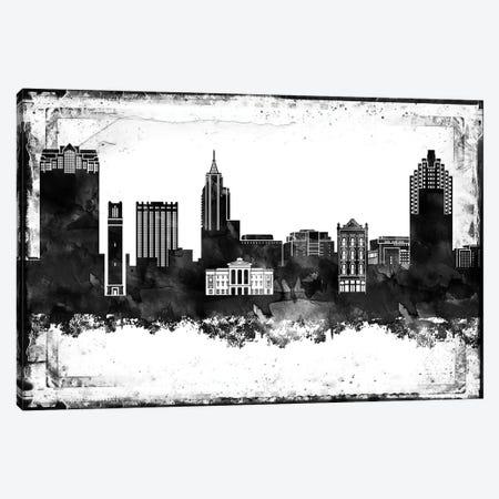 Raleigh Black & White Film Canvas Print #WDA1468} by WallDecorAddict Canvas Art