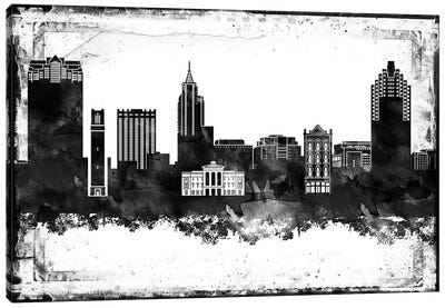 Raleigh Black & White Film Canvas Art Print