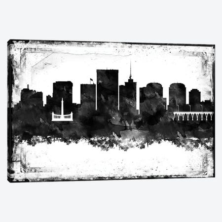 Richmond Black & White Film Canvas Print #WDA1470} by WallDecorAddict Canvas Print