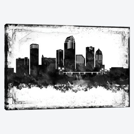 Tampa Black & White Film Canvas Print #WDA1479} by WallDecorAddict Canvas Print
