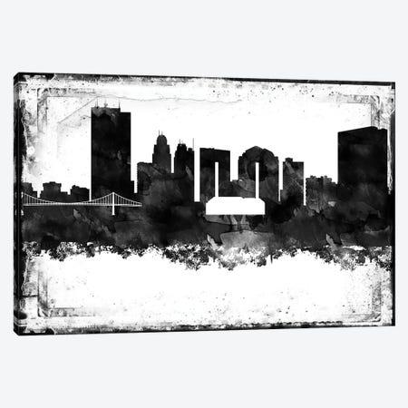 Toledo Black & White Film Canvas Print #WDA1480} by WallDecorAddict Canvas Art