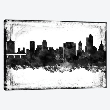 Tulsa Black & White Film Canvas Print #WDA1481} by WallDecorAddict Canvas Artwork
