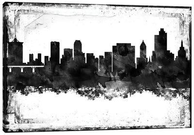 Tulsa Black & White Film Canvas Art Print