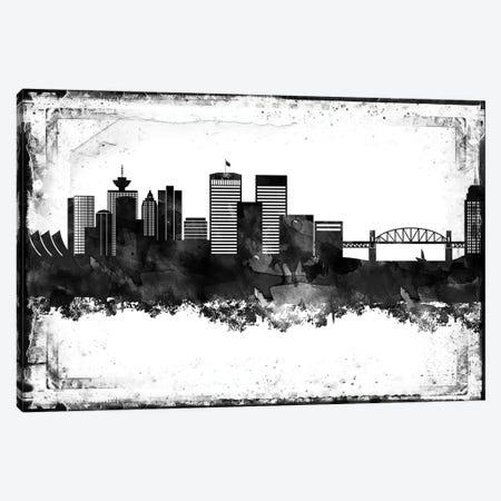 Vancouver Black & White Film Canvas Print #WDA1482} by WallDecorAddict Canvas Art