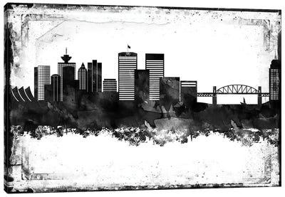 Vancouver Black & White Film Canvas Art Print