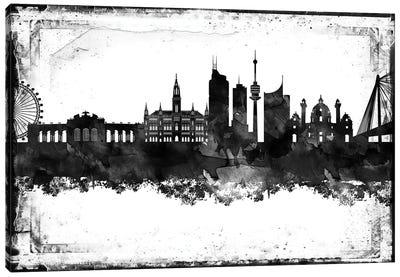 Vienna Black & White Film Canvas Art Print