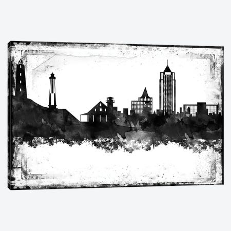 Virginia  Black & White Film Canvas Print #WDA1485} by WallDecorAddict Canvas Art Print