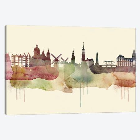 Amsterdam Desert Style Skyline Canvas Print #WDA1490} by WallDecorAddict Canvas Print
