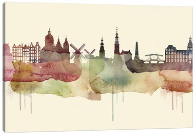 Amsterdam Desert Style Skyline Canvas Art Print
