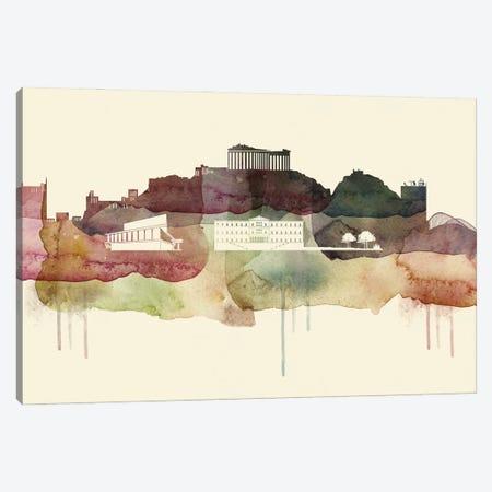 Athens Desert Style Skyline Canvas Print #WDA1492} by WallDecorAddict Canvas Art Print