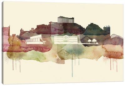 Athens Desert Style Skyline Canvas Art Print
