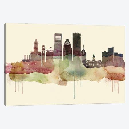 Baltimore Desert Style Skyline Canvas Print #WDA1496} by WallDecorAddict Canvas Wall Art