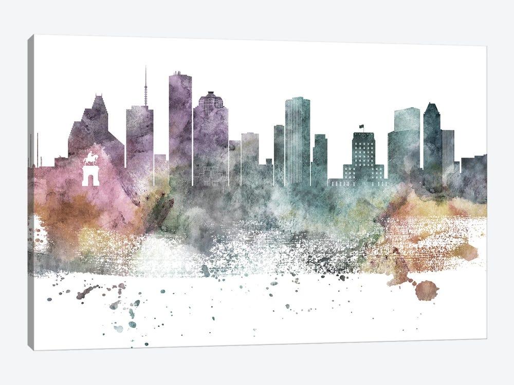 Houston Paste Skylines by WallDecorAddict 1-piece Art Print