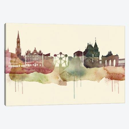 Brussels Desert Style Skyline Canvas Print #WDA1501} by WallDecorAddict Canvas Print