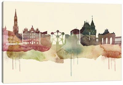 Brussels Desert Style Skyline Canvas Art Print