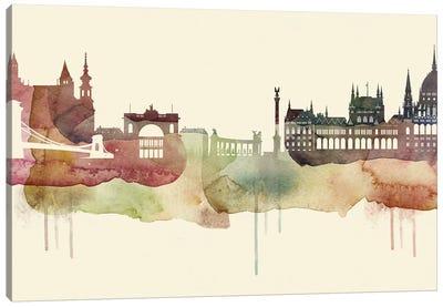 Budapest Desert Style Skyline Canvas Art Print