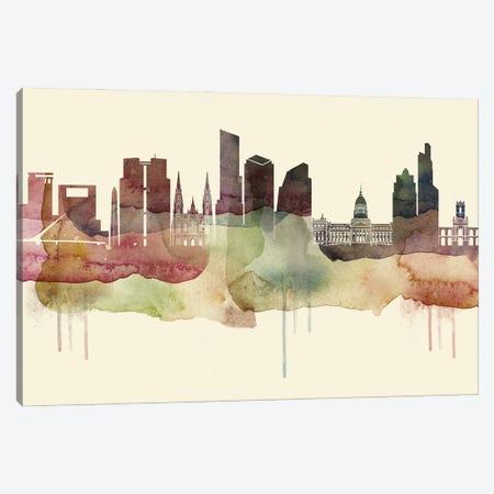 Buenos Aires Desert Style Skyline Canvas Print #WDA1503} by WallDecorAddict Canvas Art Print