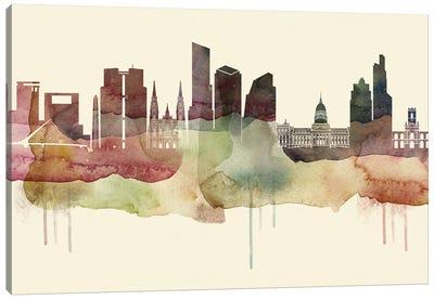 Buenos Aires Desert Style Skyline Canvas Art Print