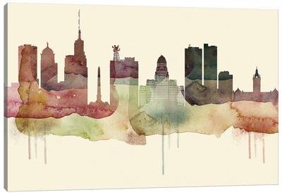 Buffalo Desert Style Skyline Canvas Art Print