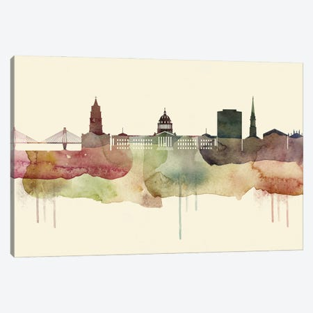 Charleston Desert Style Skyline Canvas Print #WDA1506} by WallDecorAddict Canvas Artwork