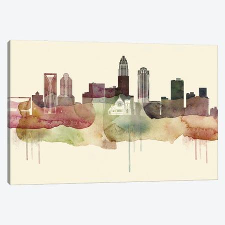 Charlotte Desert Style Skyline Canvas Print #WDA1507} by WallDecorAddict Canvas Wall Art